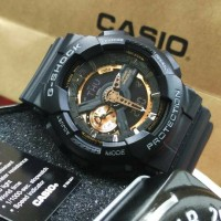 Jam Tangan Casio G-Shock GA 110 Black Gold Original BM