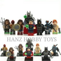 LEGO MINI FIGURE BATMAN VS SUPERMAN WONDER WOMAN AUQA MAN SET