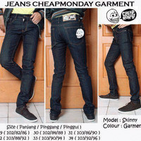 Celana Jeans CheapMonday Blue Black disdtro bdg