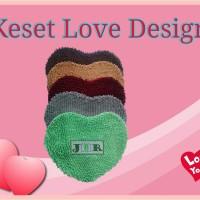 Jual Keset Microfiber/Cendol with Love Design Murah