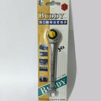 Kunci Pas Ring Ratchet Flex Head 10mm Buddy Japan