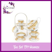 Tea Set T77 VICENZA Set Perlengkapan Minum Teh Teko Cangkir dan Rak