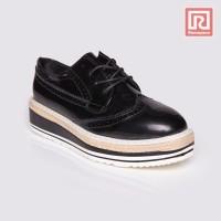 Jual Sepatu Wanita Lace Oxford Black Adorable JJ 88881630 Murah