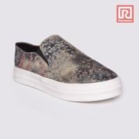 Jual Sepatu Wanita Slip On Floral Brown Adorable JJ 88864412 Murah