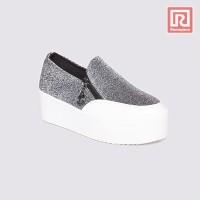 Jual Sepatu Wanita Slip On Glittery Grey Adorable JJ 88864420 Murah