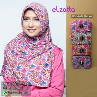 ELZATTA Ghiska M Katya Bergo Motif | Jilbab Instan | Kerudung | Hijab