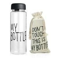 Jual My Bottle/Infised Water/Botol Minum Bahan Plastik Tritan + Pouch Murah