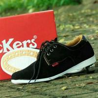 Jual Sepatu Kickers Suede Black Casual Pria Murah