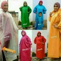 Jual Mantel gamis JUMBO/Jas hujan muslimah UKURAN BESAR warna polos Murah