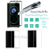 Tempered Glass Full Layar Samsung Galaxy S8 Plus S8+ S 8 + frame Cover