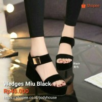 Wedges Miu Black