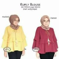 rufly blouse - tunik - top - atasan wanita - baju murah