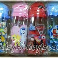 Botol minum/Termos sedotan BPA Free karakter anak