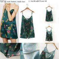 Jual 41738 - Green Sexy Flower (M,L) - Jumpsuit Murah