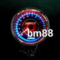RPM Analog Led Indiglow Termignoni - Tachometer Takometer Jarum