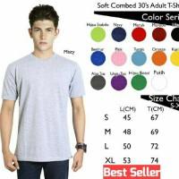Jual Kaos Polos Oblong Pendek Soft Combed 30s Murah