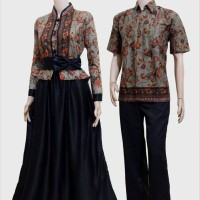 Jual Couple batik sarimbit gamis pesta baju pasangan seragam SRG 464 Murah