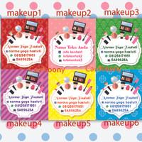 Sticker / stiker label toko kosmetik make up lipstick, eyeliner, bedak