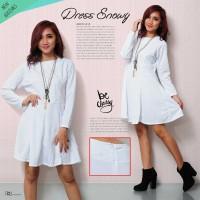 Harga baju dress dress wanita pakaian wanita dress snowy bahan | antitipu.com