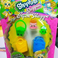 Shopkins shoppies set 2 bag + 3 shopkins