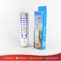 Remot/Remote TV Tabung, LCD, LED Multi/Universal RM-133E LED + Senter