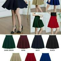 Jual Rok Pesta Super Mekar / Flare Skirt Mini Midi Jul Bawahan Wanita Korea Murah