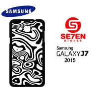 Casing HP Samsung J7 2015 abstract black and white Custom Hardcase Cov