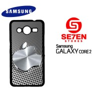 Casing HP Samsung Galaxy Core 2 3D Apple Silver Custom Hardcase Cover