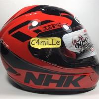 Helm Full Face NHK GP 1000 Double Visor instinct racing Black Red