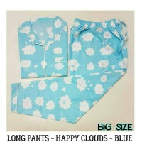 Piyama Dewasa Besar-happy Clouds Big Size Long Pants Pajamas