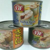 S&W Saba fish 3 variant In Brine/In Miso Sauce / In shoyu 200 g BPOM