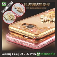Soft Case Flower Swarovski Diamond iRing Samsung Galaxy J5 / J7 Prime