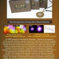 kalung kesehatan g-life pendant 10.000cpm spesial logo,quantum science