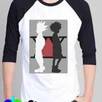 T Shirt | Kaos Raglan Hunter X Hunter Character Killua Gon Anime