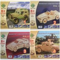 Puzzle 3D Woodcraft Contruction Kits PROMO 40% OFF MURAH