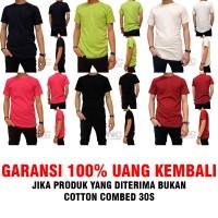 Jual Kaos Polos Premium 100% Full Cotton Combed 30s Garansi Uang Kembali Murah