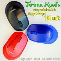 Jual Mouse Wireless Logitech M331 Silent Plus / Original Asli Garansi Resmi Murah