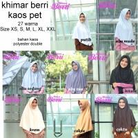 Khimar Kaos Berri Size XS dan S - Jilbab Santai Adem Tidak Transparan