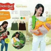 Gendongan Dialogue Sling Polka series + breastfeeding clothing