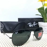 Kacamata Ray Ban Aviator 3025 Full Black Hitam lensa kecil size 58