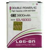 Baterai Log on Samsung S3 (i9300)/Batre/Original/Double Power 3000