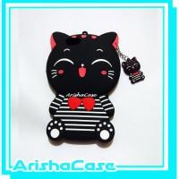 Jual Case 4D Lucky Cat Stripes OPPO F1s A59 /Softcase/Karakter/Rubber/3D Murah