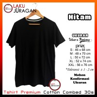 Kaos Polos Pria Hitam Premium Cotton 30s Tshirt Baju Merk Covic