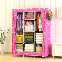 Harga 028cx lemari pakaian ukuran besar jumbo bahan oxford | antitipu.com