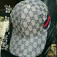 Topi Gucci krem List Samping Diskon