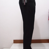 Celana Kerja Slim Fit Hitam Panjang Wool Pria Formal Berkualitas