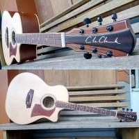 Gitar akustik cole clark natural pickguard exclusive