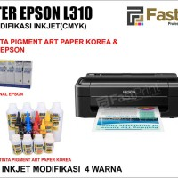 Printer Epson L310 Plus Tinta Art Paper Korea & Tinta Original Epson