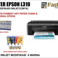 Printer Epson L310 Plus Tinta Art Paper China & Tinta Original Epson