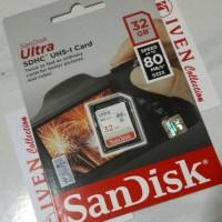 Jual SanDisk Ultra SDHC 32gb uhs I memory card camera class 10 memori 32 GB Murah